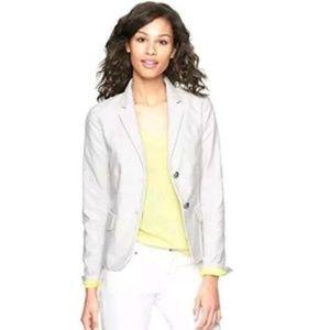 Gap Academy Khaki Stripe Blazer sz 6